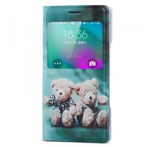 Чехол флип подставка на пластиковой основе с окном вызова для Samsung Galaxy A7 (a700f)