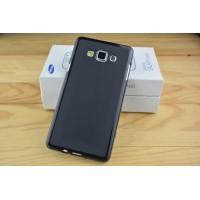 Силиконовый матовый непрозрачный чехол для Samsung Galaxy A7 Черный