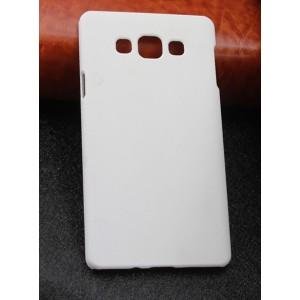 Пластиковый матовый непрозрачный чехол для Samsung Galaxy A7 Белый