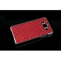 Пластиковый чехол со стразами для Samsung Galaxy A7 Красный