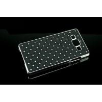 Пластиковый чехол со стразами для Samsung Galaxy A7 Черный