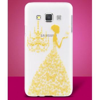 Пластиковый полупрозрачный матовый чехол с УФ-принтом для Samsung Galaxy A3
