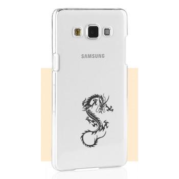 Пластиковый транспарентный чехол с принтом Love Is для Samsung Galaxy A3