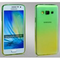 Силиконовый градиентный полупрозрачный чехол для Samsung Galaxy A3
