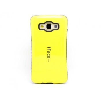 Силиконовый эргономичный чехол с нескользящими гранями для Samsung Galaxy A3