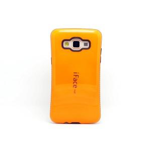 Силиконовый эргономичный чехол с нескользящими гранями для Samsung Galaxy A3 Оранжевый