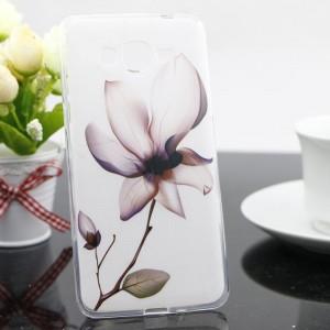 Силиконовый матовый дизайнерский чехол с принтом для Samsung Galaxy Grand Prime