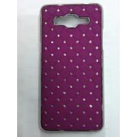 Дизайнерский пластиковый чехол со стразами для Samsung Galaxy Grand Prime Фиолетовый