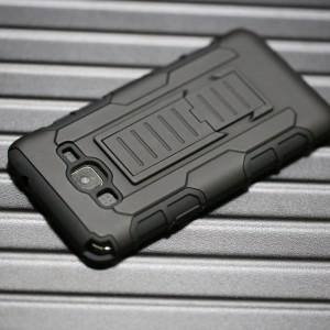 Антиударный силиконовый чехол с поликарбонатной крышкой и ножкой-подставкой для Samsung Galaxy Grand Prime
