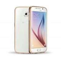 Металлический бампер для Samsung Galaxy S6 Бежевый