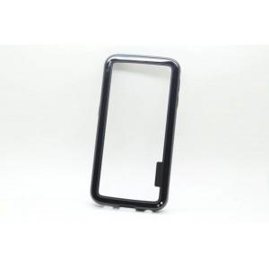 Двухкомпонентный бампер силикон/поликарбонат для Samsung Galaxy S6 (g9200) Черный