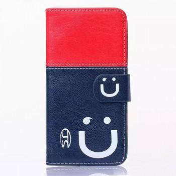 Дизайнерский чехол портмоне подставка на силиконовой основе с защелкой серия Smile at Me для Samsung Galaxy S6
