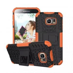 Силиконовый чехол экстрим защита для Samsung Galaxy S6 Оранжевый
