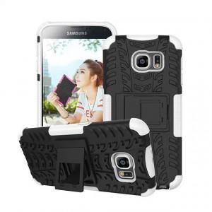 Силиконовый чехол экстрим защита для Samsung Galaxy S6 Белый