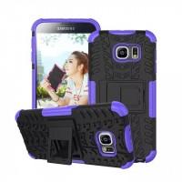 Силиконовый чехол экстрим защита для Samsung Galaxy S6 Фиолетовый