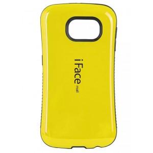 Силиконовый эргономичный непрозрачный чехол с нескользящими гранями для Samsung Galaxy S6 Желтый