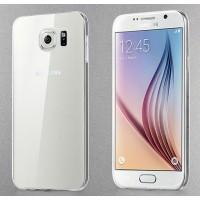 Силиконовый транспарентный чехол для Samsung Galaxy S6 Белый