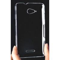 Пластиковый транспарентный чехол для Sony Xperia E4g Белый