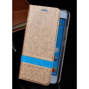 Текстурный чехол флип подставка на силиконовой основе для Sony Xperia E4g