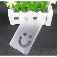 Пластиковый матовый полупрозрачный чехол Smile для Samsung Galaxy Alpha Белый