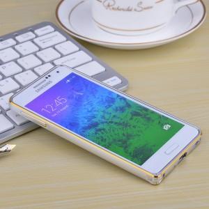 Металлический двухцветный бампер для Samsung Galaxy Alpha Бежевый