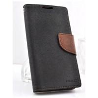 Текстурный чехол портмоне с магнитной защелкой для Samsung Galaxy Alpha Коричневый