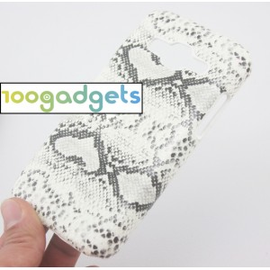 Пластиковый матовый дизайнерский чехол с текстурным принтом Змея для Samsung Galaxy Core Prime