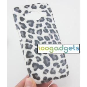 Пластиковый матовый дизайнерский чехол с полноповерхностным УФ-принтом Леопард для Samsung Galaxy Core Prime