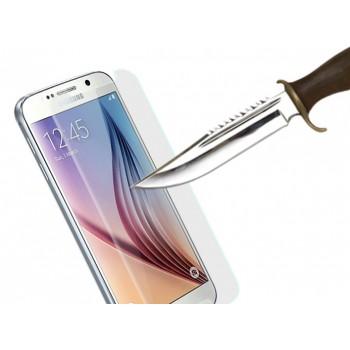 Ультратонкое износоустойчивое сколостойкое олеофобное защитное стекло-пленка для Samsung Galaxy S6