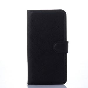 Чехол портмоне подставка на силиконовой основе с отсеком для карт и магнитной застежкой для Samsung Galaxy S6 Черный