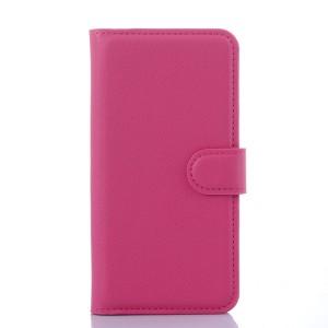 Чехол портмоне подставка с защелкой для Samsung Galaxy S6 Пурпурный