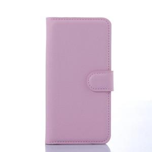 Чехол портмоне подставка на силиконовой основе с отсеком для карт и магнитной застежкой для Samsung Galaxy S6 Розовый