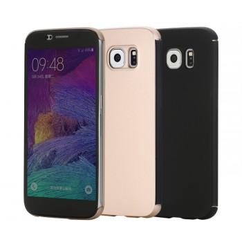 Двухкомпонентный гибридный чехол смартфлип с активной крышкой на пластиковой основе для Samsung Galaxy S6