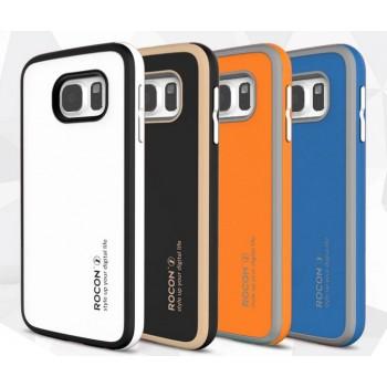 Двухкомпонентный гибридный ударостойкий чехол силикон/поликарбонат с защитой объектива для Samsung Galaxy S6