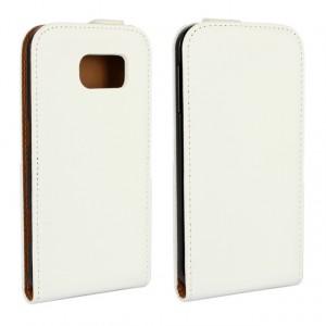 Чехол вертикальная книжка на пластиковой основе для Samsung Galaxy S6 Белый