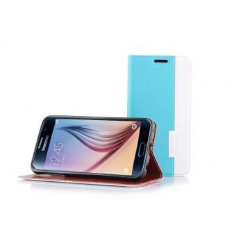 Текстурный дизайнерский чехол флип поставка на силиконовой основе для Samsung Galaxy S6