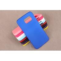 Пластиковый матовый непрозрачный чехол для Samsung Galaxy S6 Синий
