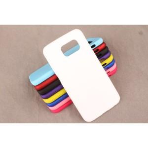 Пластиковый матовый непрозрачный чехол для Samsung Galaxy S6 Белый