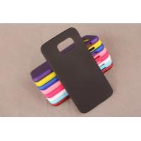 Пластиковый матовый непрозрачный чехол для Samsung Galaxy S6 Черный