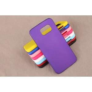 Пластиковый матовый непрозрачный чехол для Samsung Galaxy S6 Фиолетовый