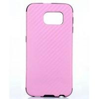 Силиконовый матовый дизайнерский чехол с голографическим эффектом для Samsung Galaxy S6 Розовый