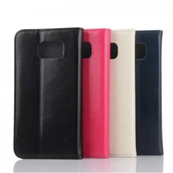Чехол портмоне подставка на пластиковой основе для Samsung Galaxy S6