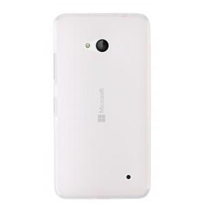 Силиконовый матовый полупрозрачный чехол для Microsoft Lumia 640 Белый
