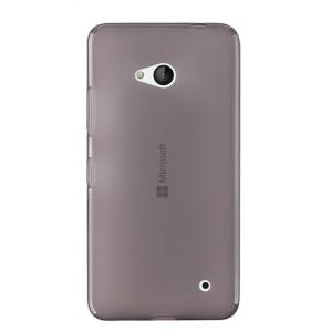 Силиконовый матовый полупрозрачный чехол для Microsoft Lumia 640 Черный