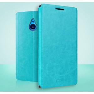 Чехол флип подставка водоотталкивающий для Microsoft Lumia 640 XL Голубой