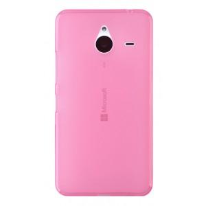 Силиконовый матовый полупрозрачный чехол для Microsoft Lumia 640 XL Розовый
