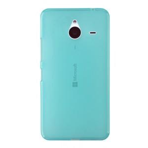 Силиконовый матовый полупрозрачный чехол для Microsoft Lumia 640 XL Голубой