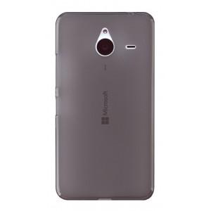 Силиконовый матовый полупрозрачный чехол для Microsoft Lumia 640 XL Черный
