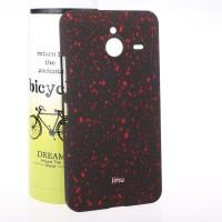 Пластиковый матовый дизайнерский чехол с голографическим принтом Звезды для Microsoft Lumia 640 XL Красный