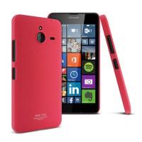 Пластиковый матовый чехол с повышенной шероховатостью для Microsoft Lumia 640 XL Красный